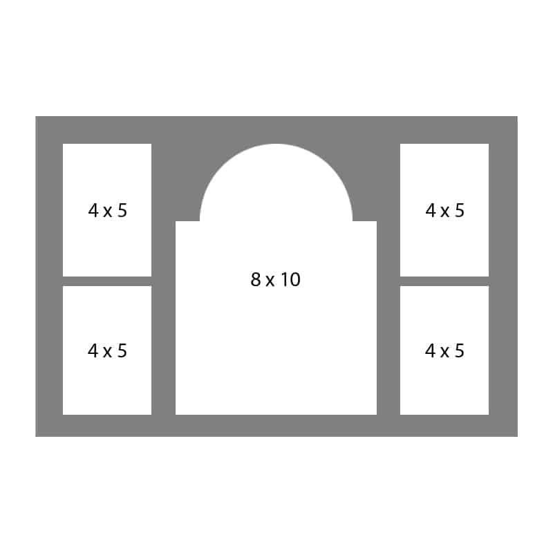 #09 EXMO 458045 8 X 10, 4-4 X 5 Openings