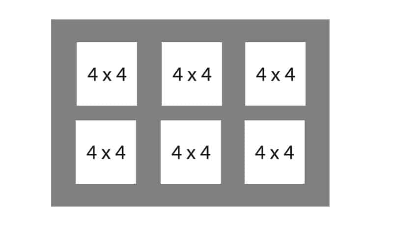 #104 EXMO 6-4x4 Openings