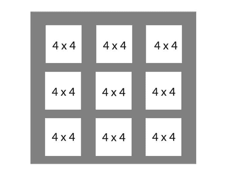 #105 EXMO 9-4x4 Openings