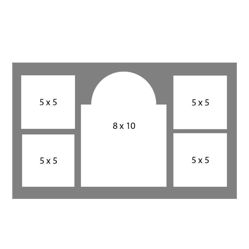 #10 EXMO 558055 8 X 10, 4-5 X 5 Openings