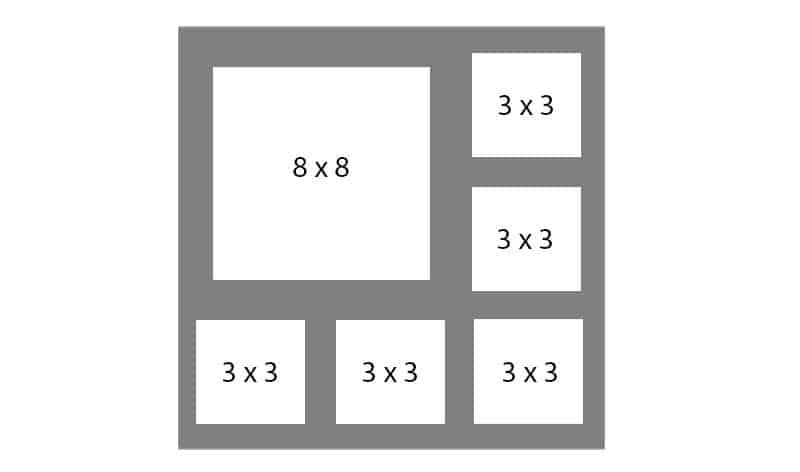 #116 EXMO 1-8x8 - w/ 5-3x3 Openings