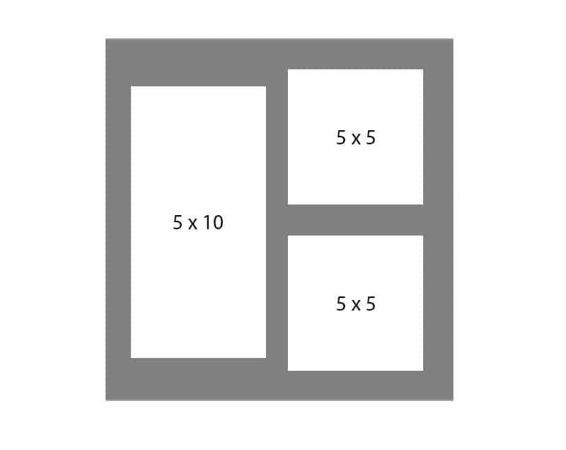 #119 EXMO 1-5x10 - w/ 2-5x5 Openings