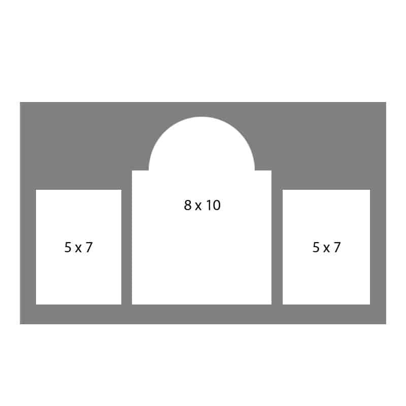 #11 EXMO 578057 1-8 X 10, 2-5 X 7 Openings