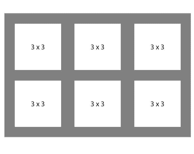 #121 EXMO 6-3x3 Openings