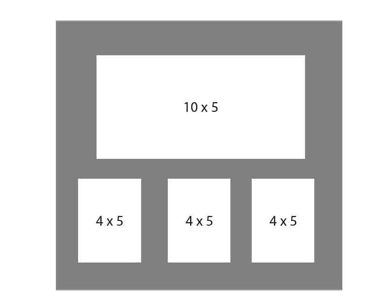 #122 EXMO 1-10x5 - w/ 3-4x5 Openings