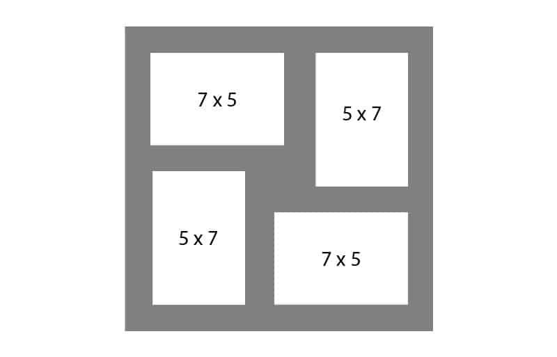 #127 EXMO 2-5x7 Openings w/ 2-7x5 Openings