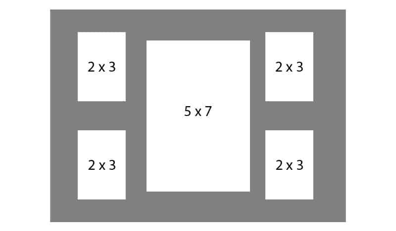 #130 EXMO 4-2x3 w/ 1-5x7 Opening