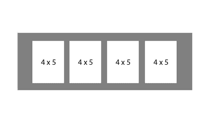 #13 EXMO 445 4-4 X 5 Openings