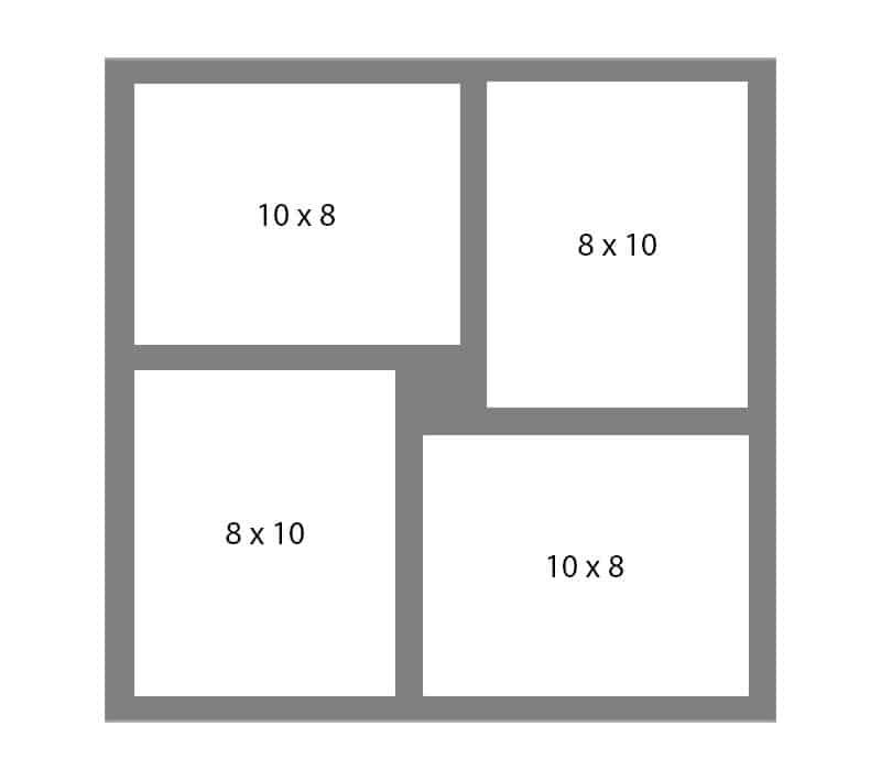#140 EXMO 2-8x10 w/ 2-8x10 Openings