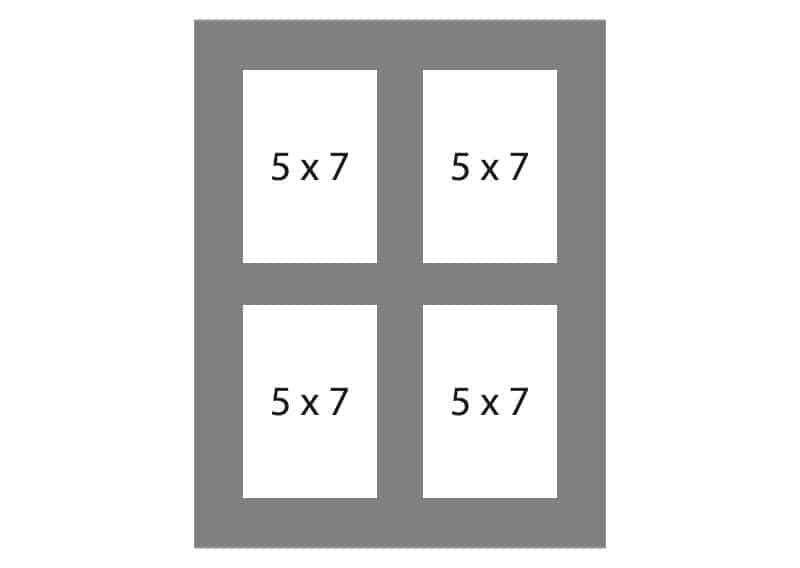 #146 4-5x7 Openings