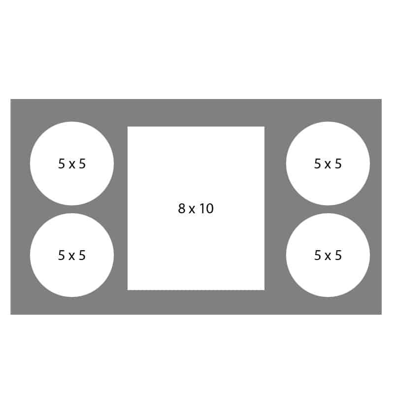 #20 EXMO 55C-80R-55C 8 X 10, 4-5X5 Openings