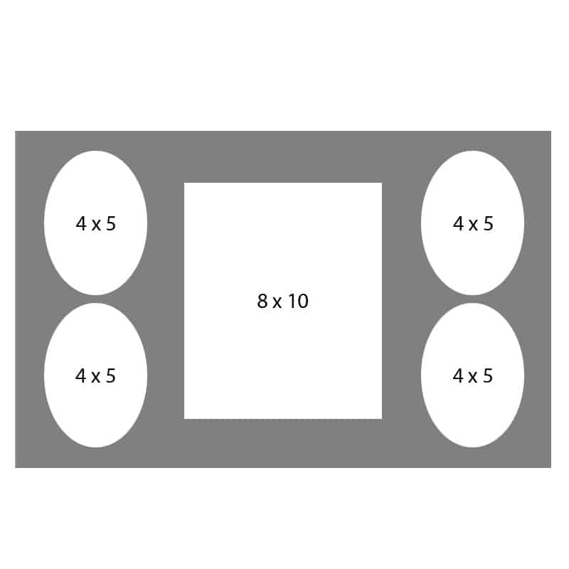 #21 EXMO 45O-80R-45O 8 X 10, 4-4X5 Openings