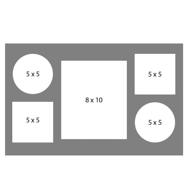 #22 EXMO 55CS-80R-55CS 8 X 10, 4-5X5 Openings