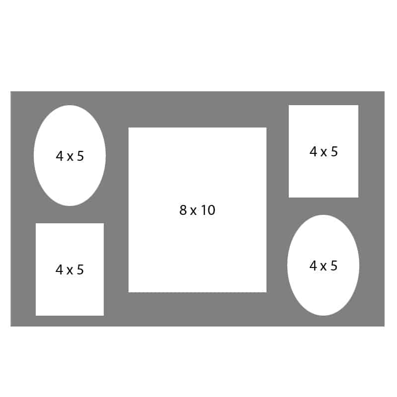 #23 EXMO 45OR-80R-45OR 8 X 10, 4-4X5 Openings