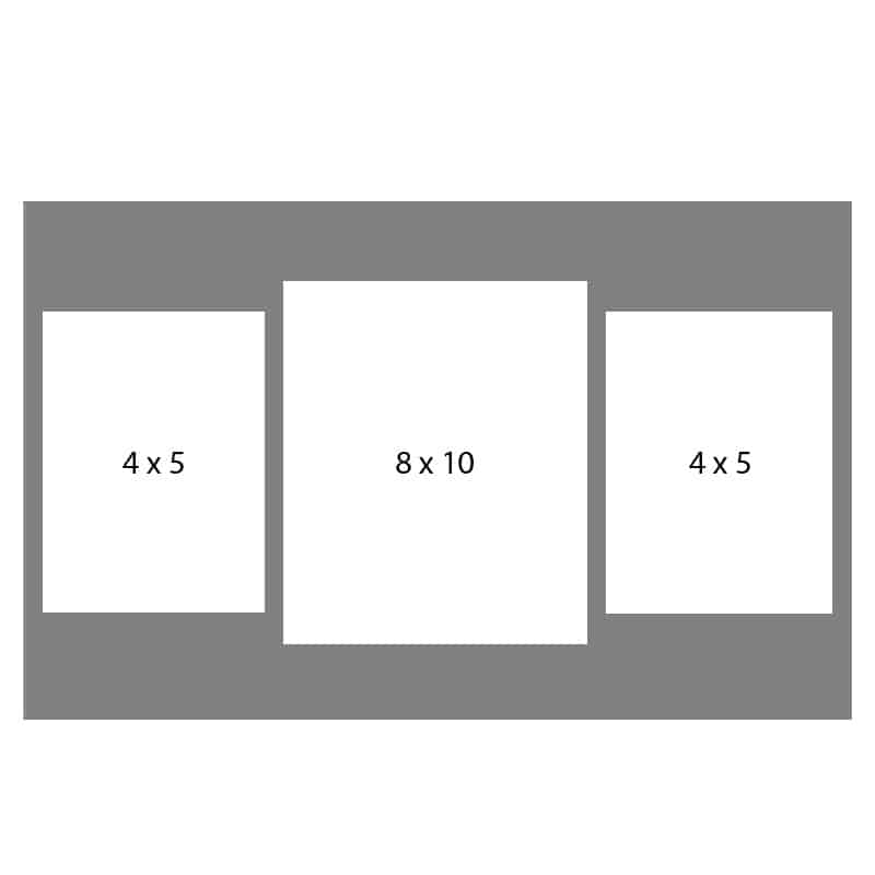 #24 EXMO 57R-80R-57R 8 X 10, 2-5X7 Openings