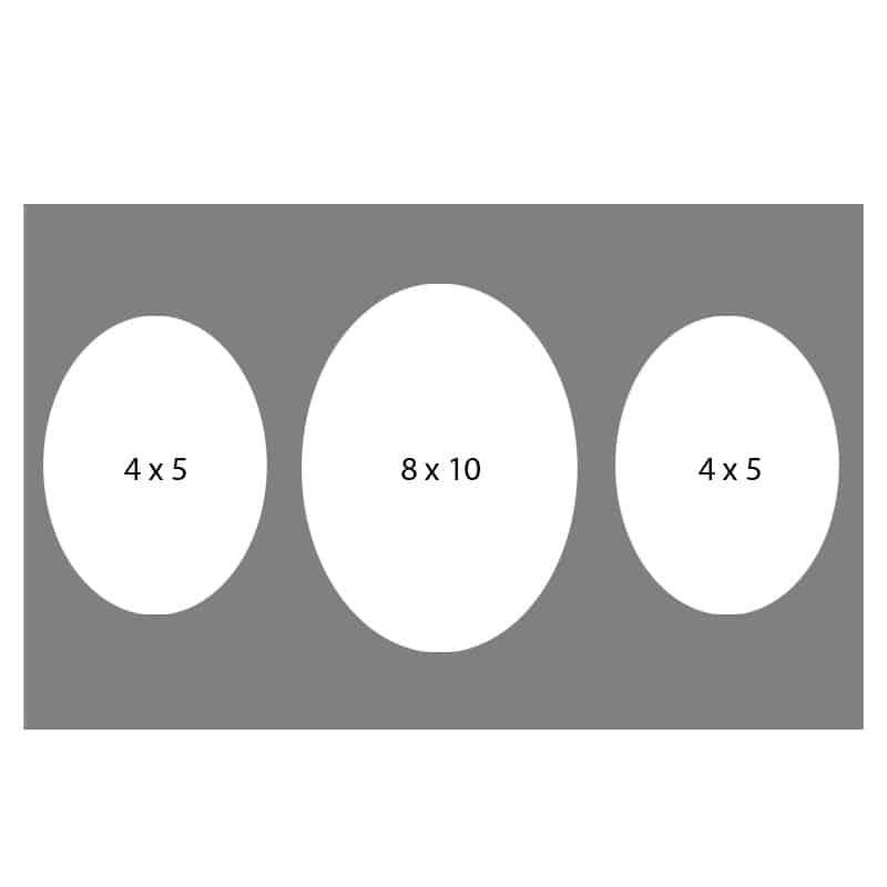 #25 EXMO 57O-80O-57O 8 X 10, 2-5X7 Openings