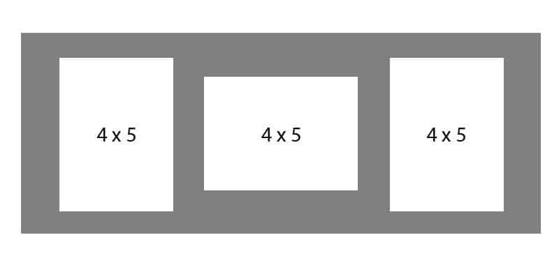 #33 EXMO 45R-54R-45R 8 X 20, 3-4X5 Openings