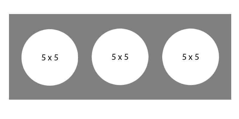 #34 EXMO 355C 8 X 20, 3-5 X 5 Openings