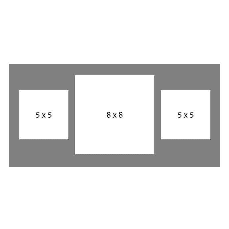 #39 EXMO 55S-88S-55S 10X20, 1-8X8, 2-5X5 Openings