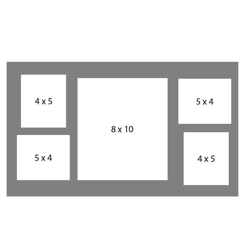 #41 EXMO 1-8 X 10 w/ 2-4 X 5 & 2-5 X 4 Openings