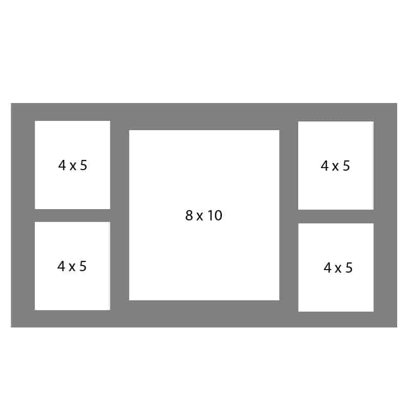 #42 EXMO 1-8 X 10 Opening w/ 4-4 X 5 Openings