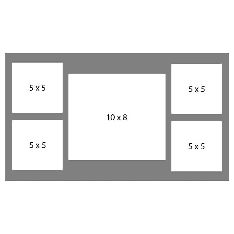 #43 EXMO 1-8 X 10 Opening w/ 4-5 X 5 Openings
