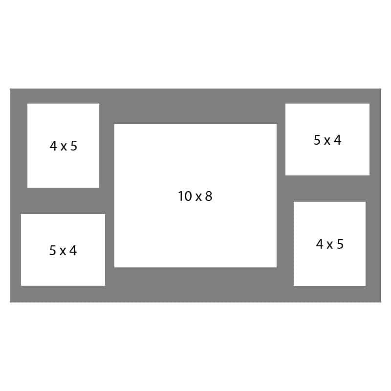 #44 EXMO 1-8 X 10 w/ 2-4 X 5 & 2-5 X 4 Openings