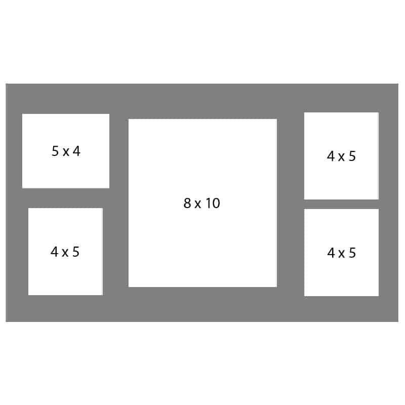 #45 EXMO 1-8 X 10 w/ 1-5 X 4 & 3-4 X 5 Openings