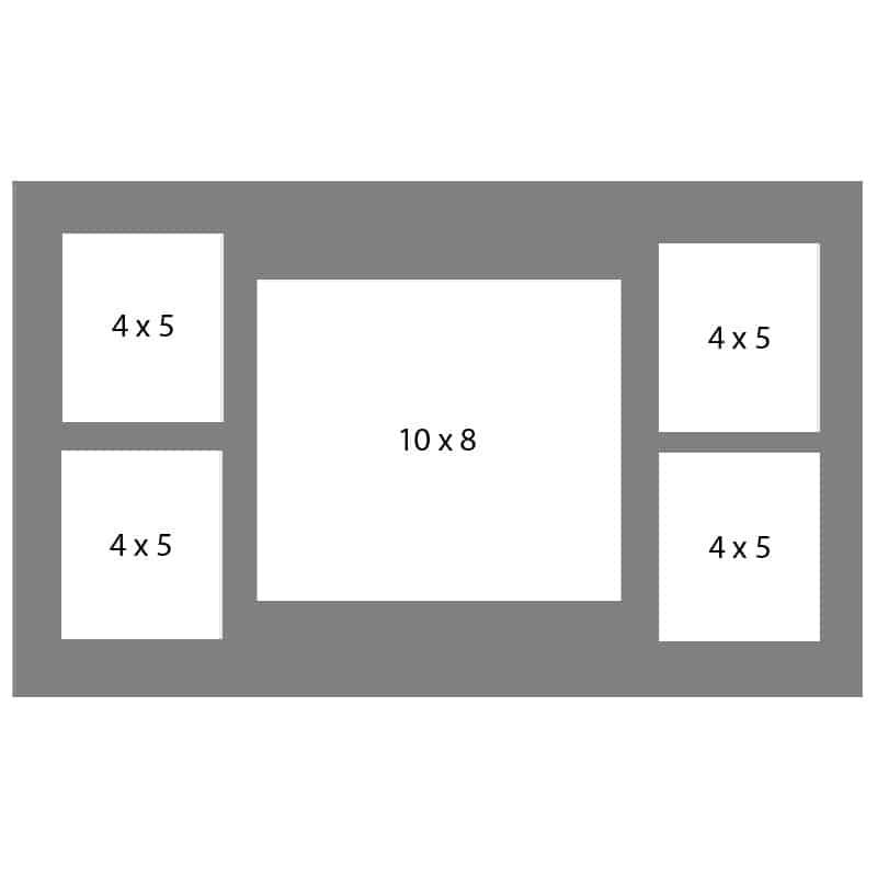 #46 EXMO 1-8 X 10 Opening w/ 4-4 X 5 Openings