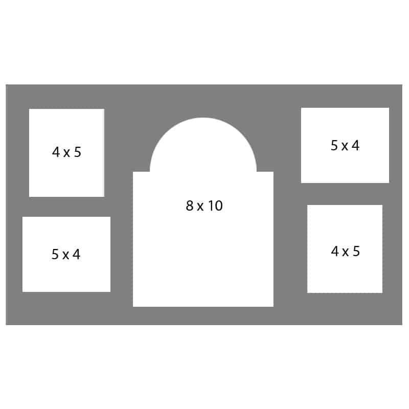 #48 EXMO 1-8 X 10 w/ 2-4 X 5 & 2-5 X 4 Openings