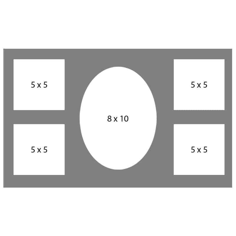 #50 EXMO 1-8 X 10 Opening w/ 4-5 X 5 Openings