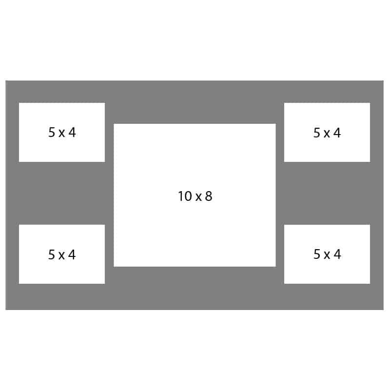 #52 EXMO 1-8 X 10 Opening w/ 4-5 X 4 Openings