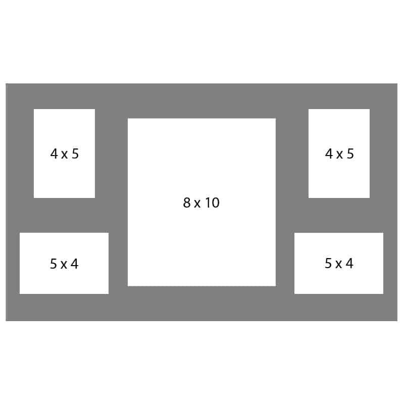 #53 EXMO 1-8 X 10 w/ 2-4 X 5 & 2-5 X 4 Openings
