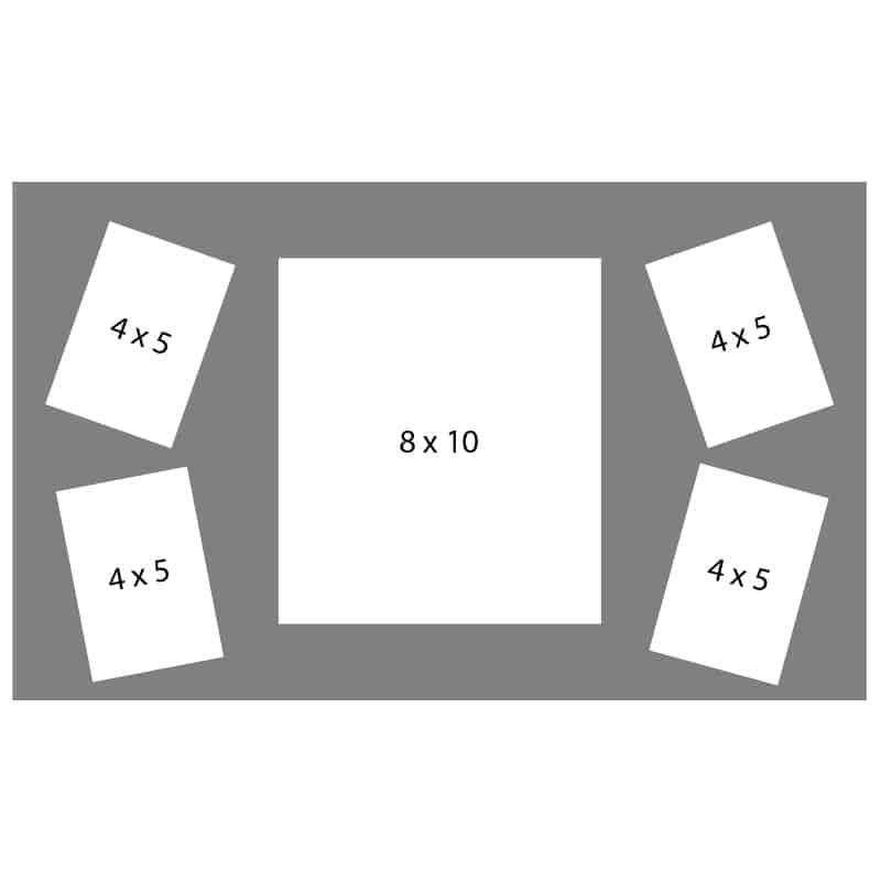 #54 EXMO 1-8 X 10 Opening w/ 4-4 X 5 Openings