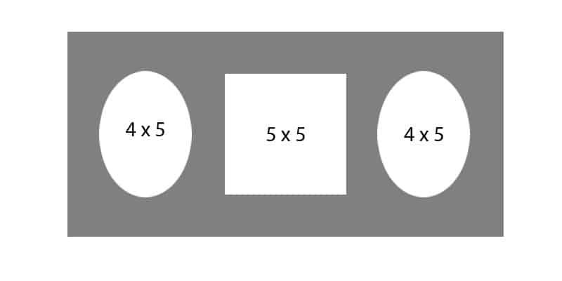 #62 EXMO 1-5 X 5 Opening w/ 2-4 X 5 Openings