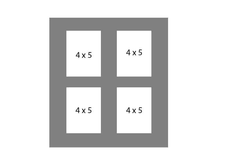 #65 EXMO 4-4 X 5 Openings