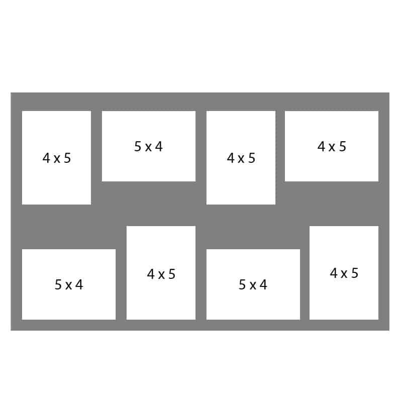 #67 EXMO 4-4 X 5 Openings w/ 4-5 X 4 Openings