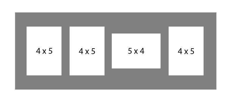 #73 EXMO 3-4 X 5 Openings w/ 1-5 X 4 Opening