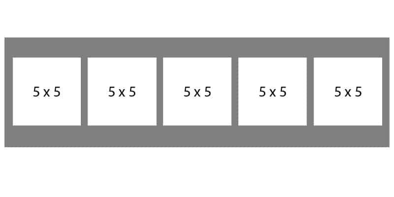 #75 EXMO 5-5 X 5 Openings