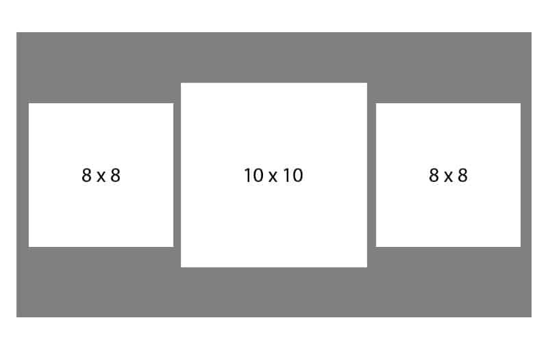 #82 EXMO 1-8 X 10 Opening w/ 2-8 X 8 Openings