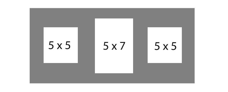 #91 EXMO 1-5 X 7 Opening w/ 2-5 X 5 Openings