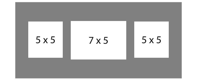 #92 EXMO 1-7 X 5 Opening w/ 2-5 X 5 Openings