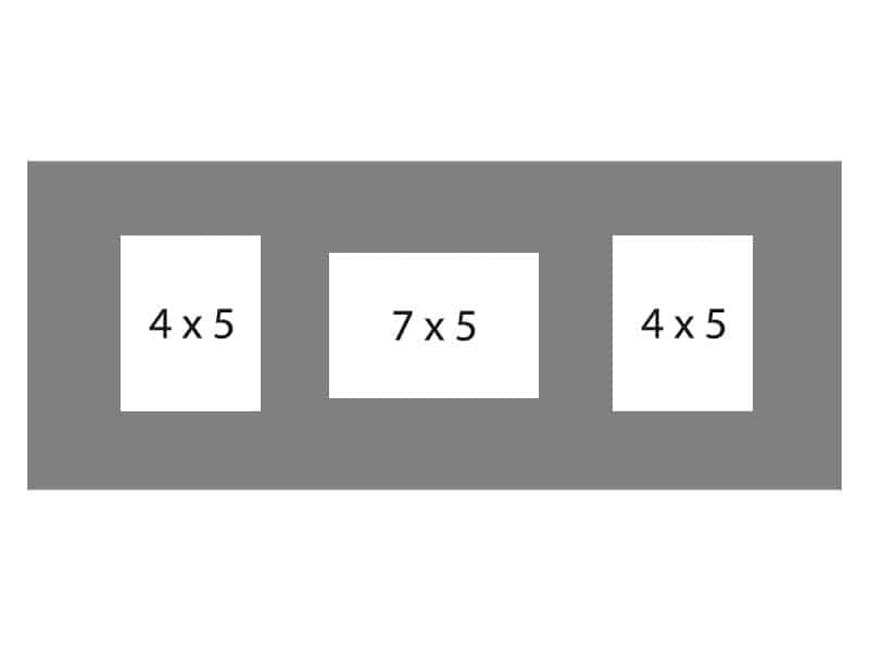 #94 EXMO 1-7 X 5 Opening w/ 2-4 X 5 Openings
