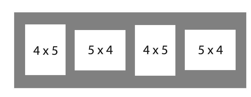 #96 EXMO 2-4 X 5 Openings w/ 2-5 X 4 Openings