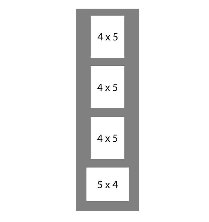 #99 EXMO 1-5 X 4 Opening w/ 3-4 X 5 Openings